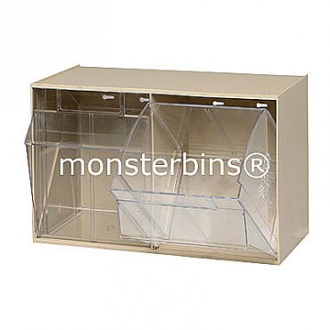 2 Compartment Tip Out Bin