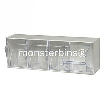 4 Compartment Tip Out Bin