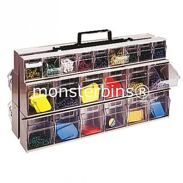Clear Tip Out Bin Portable Frame