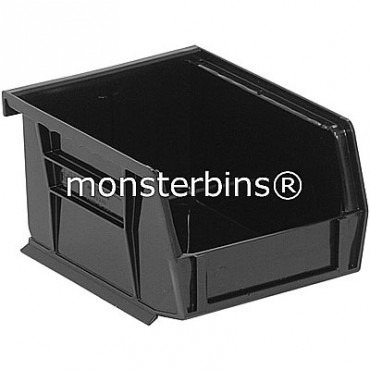 Quantum QUS210 Stacking Plastic Bins 5x4x3  Black