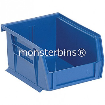 Quantum QUS210 Stacking Plastic Bins 5x4x3  Blue