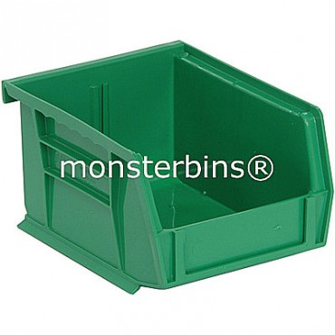 Quantum QUS210 Stacking Plastic Bins 5x4x3  Green