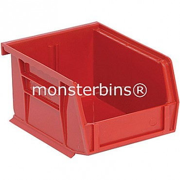 Quantum QUS210 Stacking Plastic Bins 5x4x3  Red