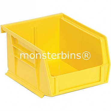 Quantum QUS210 Stacking Plastic Bins 5x4x3  Yellow