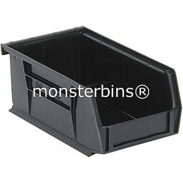 Monster MB220 Stacking Plastic Bins 7x4x3  Black