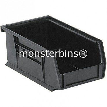 Quantum QUS220 Stacking Plastic Bins 7x4x3  Black