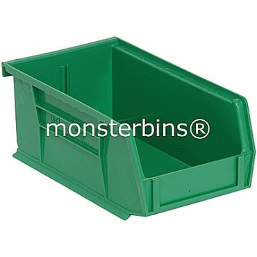 Monster MB220 Stacking Plastic Bins 7x4x3  Green