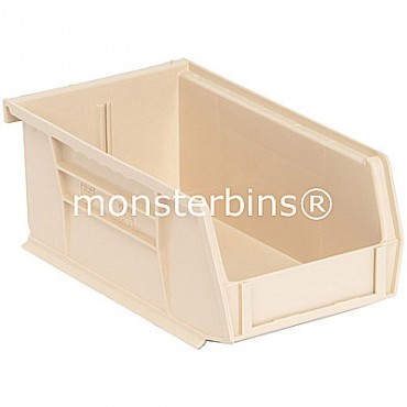 Monster MB220 Stacking Plastic Bins 7x4x3  Ivory
