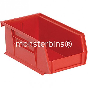 Monster MB220 Stacking Plastic Bins 7x4x3  Red