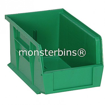 Monster MB221 Stacking Plastic Bins 9x6x5  Green
