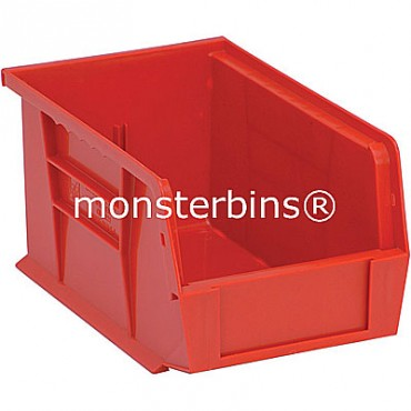 Monster MB221 Stacking Plastic Bins 9x6x5  Red