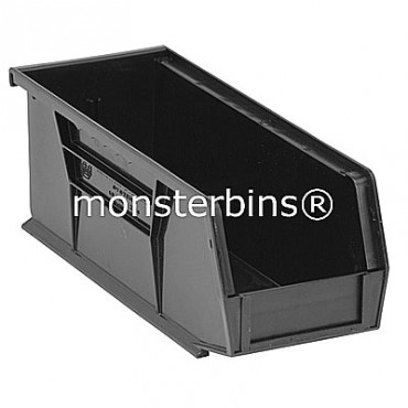 Monster MB224 Stacking Plastic Bins 11x4x4  Black