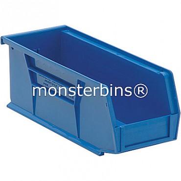 Monster MB224 Stacking Plastic Bins 11x4x4  Blue