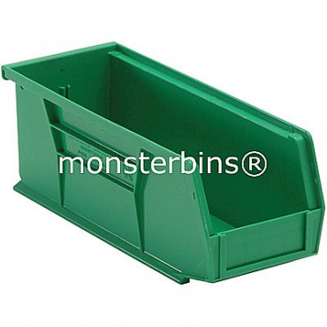 Quantum QUS224 Stacking Plastic Bins 11x4x4  Green