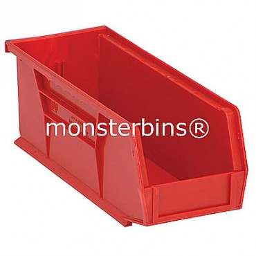 Monster MB224 Stacking Plastic Bins 11x4x4  Red