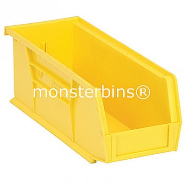 Quantum QUS224 Stacking Plastic Bins 11x4x4  Yellow