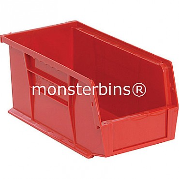 Monster MB230 Stacking Plastic Bins 11x5x5  Red