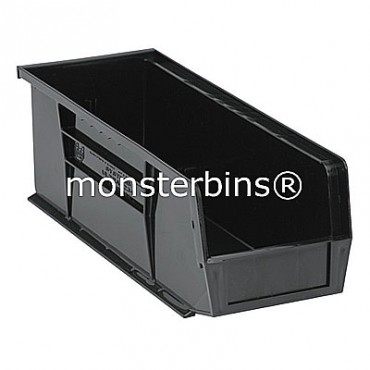 Quantum QUS234 Stacking Plastic Bins 15x5x5  Black