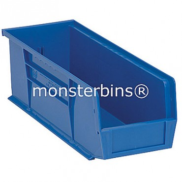 Monster MB234 Stacking Plastic Bins 15x5x5  Blue