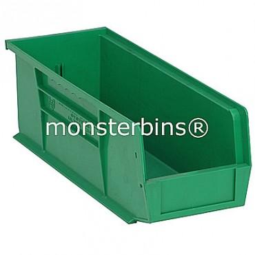 Monster MB234 Stacking Plastic Bins 15x5x5  Green