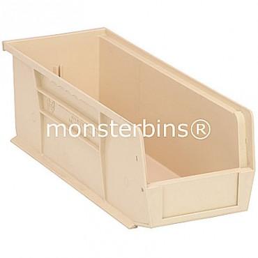 Quantum QUS234 Stacking Plastic Bins 15x5x5  Ivory