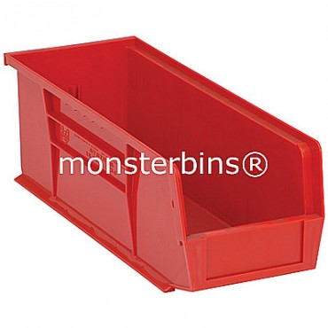 Monster MB234 Stacking Plastic Bins 15x5x5  Red