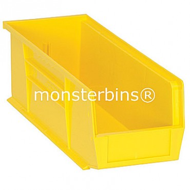 Quantum QUS234 Stacking Plastic Bins 15x5x5  Yellow