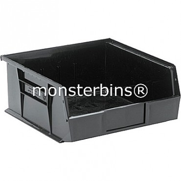 Quantum QUS235 Stacking Plastic Bins 11x11x5  Black