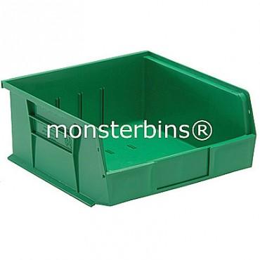 Monster MB235 Stacking Plastic Bins 11x11x5  Green