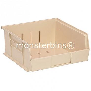 Monster MB235 Stacking Plastic Bins 11x11x5  Ivory
