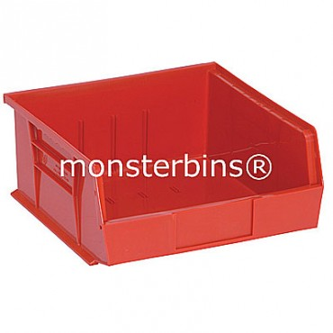 Monster MB235 Stacking Plastic Bins 11x11x5  Red