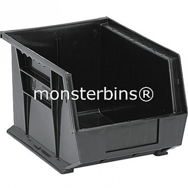 Quantum QUS239 Stacking Plastic Bins 11x8x7  Black