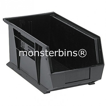 Quantum QUS240 Stacking Plastic Bins 15x8x7  Black