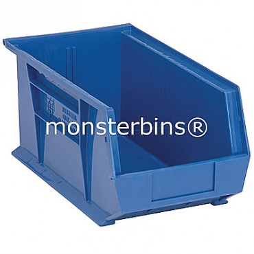 Monster MB240 Stacking Plastic Bins 15x8x7  Blue