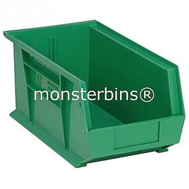 Monster MB240 Stacking Plastic Bins 15x8x7  Green