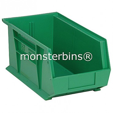 Quantum QUS240 Stacking Plastic Bins 15x8x7  Green