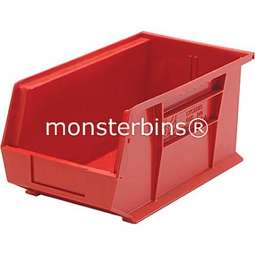 Monster MB240 Stacking Plastic Bins 15x8x7  Red