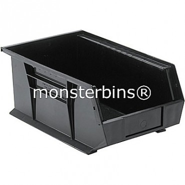 Quantum QUS241 Stacking Plastic Bins 13x8x6  Black