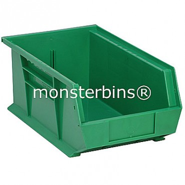 Quantum QUS241 Stacking Plastic Bins 13x8x6  Green