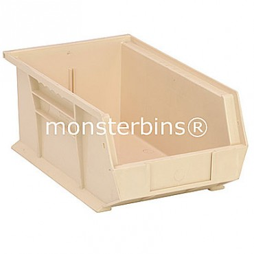 Monster MB241 Stacking Plastic Bins 13x8x6  Ivory