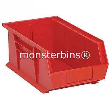 Monster MB241 Stacking Plastic Bins 13x8x6  Red