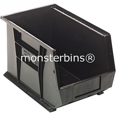Monster MB242 Stacking Plastic Bins 13x8x8  Black
