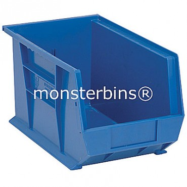 Monster MB242 Stacking Plastic Bins 13x8x8  Blue
