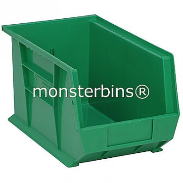 Quantum QUS242 Stacking Plastic Bins 13x8x8  Green