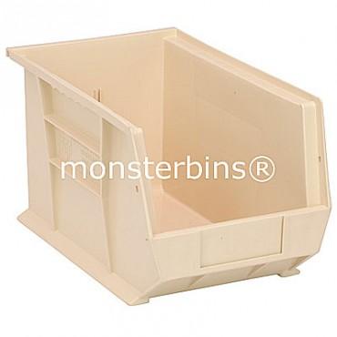 Quantum QUS242 Stacking Plastic Bins 13x8x8  Ivory