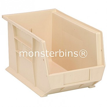 Monster MB242 Stacking Plastic Bins 13x8x8  Ivory