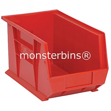 Monster MB242 Stacking Plastic Bins 13x8x8  Red