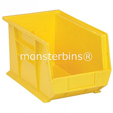 Quantum QUS242 Stacking Plastic Bins 13x8x8  Yellow