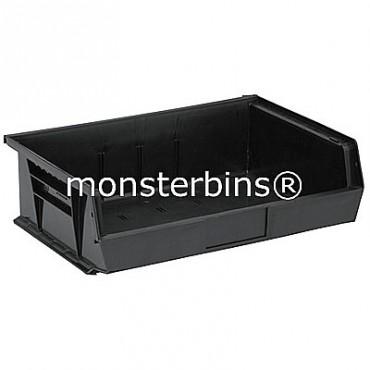 Quantum QUS245 Stacking Plastic Bins 11x16x5  Black