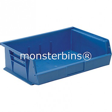 Quantum QUS245 Stacking Plastic Bins 11x16x5  Blue